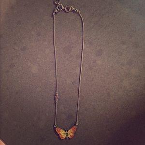 EUC! 🍀 Lucky brand 🍀 butterfly necklace